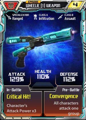Wheelie (1) Weapon