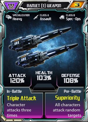 Ramjet (1) Weapon