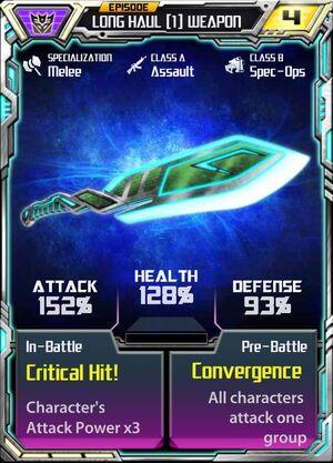 Long Haul (1) Weapon