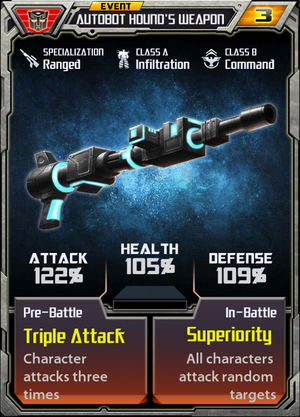 (Autobots) Event Autobot Hound's Weapon