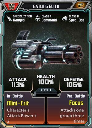 Gatling Gun II Autobot