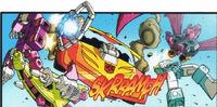 Madman comic HotRod runsover tapes
