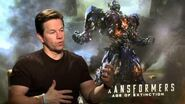 """Transformers 4 Age of Extinction Mark Wahlberg """"Cade Yeager"""" Official Movie Interview"""