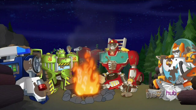 File:LostBell camping with Rescue Bots.jpg