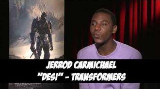 Jerrod Carmichael - Transformers The Last Knight - Exclusive Interview