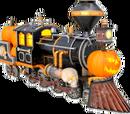 Jack-o'-lantern locomotive