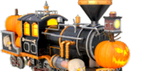 Jack-o'-lantern locomotive