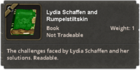 Lydia Schaffen and Rumpelstiltskin