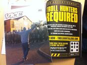 Trollhunter Augmented Reality ad in VICE magazine (UK). Grab a copy before its to late! med momentum pictures och Troll Hunter UK.