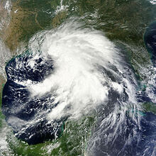 Tropical Storm Lee on 2nd Sept 2011