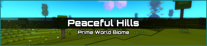 Peaceful Hills biome banner