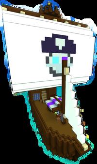 Shadowy isles trader ship