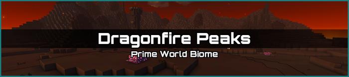 Dragonfire Peaks biome banner