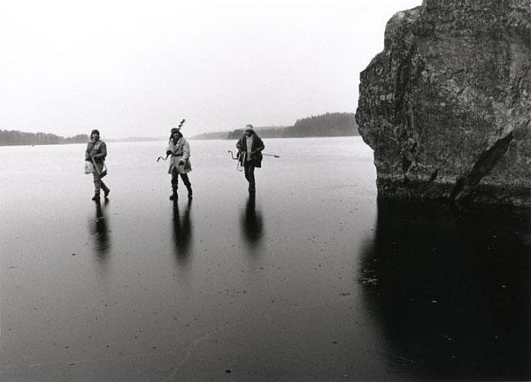 Ice three men walk