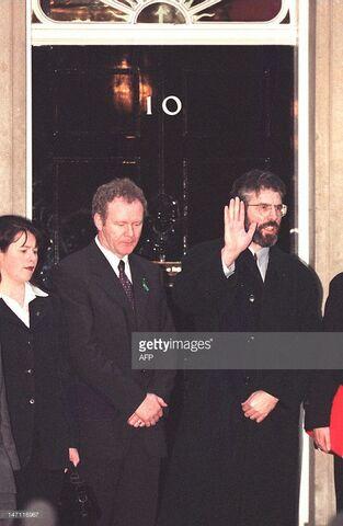 File:Sinn Fein leader Gerry Adams with Martin McGuinness No 10 Downing Street.jpg