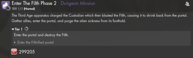 Enter the filth phase2 mission text eng
