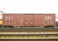 CN boxcar with a newer logo
