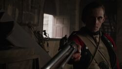 Abraham Woodhull considers shooting John Graves Simcoe