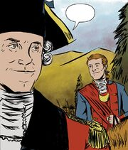 George Washington being spoken to by Edward Braddock
