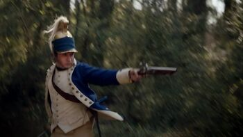 Benjamin Tallmadge attacks British soldiers