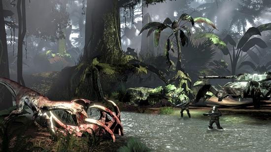 File:Turok 2008 Beta Spidertank Dino Battle.jpg