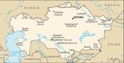 Kazakhstan-CIA WFB Map