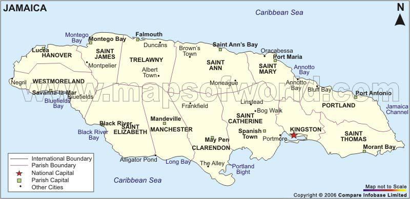 Jamaica Turtledove FANDOM Powered By Wikia - Jamaica cities map