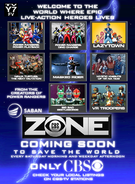 Saban's CBS Zone teaser print ad - Where Epic Live-Action Heroes Lives
