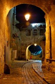 File:Sighisoara Romania alley t180.jpg
