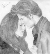 New Moon Edward and Bella by twilightfan001