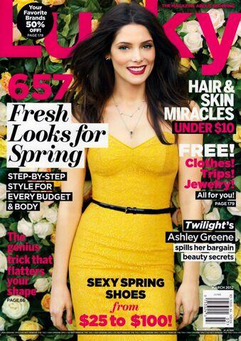 File:Ashley Greene LUCKY Alternate cover March 2012 Scanned by KROQJOCK HQ.jpg