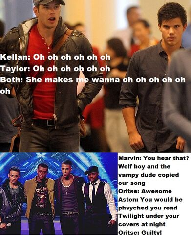 File:Twilight kellan lutz and taylor lautner meet JLS she makes me wanna aston merrygold oritse williams marvin humes jb gill.jpg