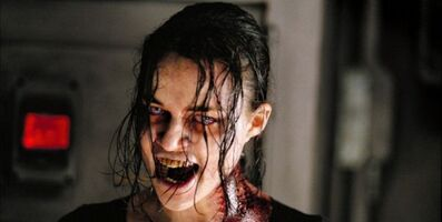 Rain is a zombie in resident evil the hive (Michelle Rodregiouz)