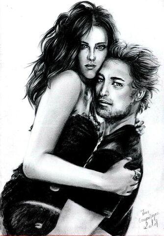 File:R Pattinson et K Stewart 3 by crayon2papier.jpg