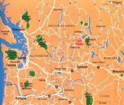 Access Guide map of Washington