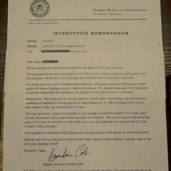 Memorandum from Cole to Agent [redacted]