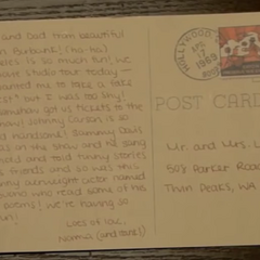 Postcard from Norma to her parents