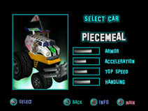 Twisted Metal - Small Brawl - Piecemeal carsel