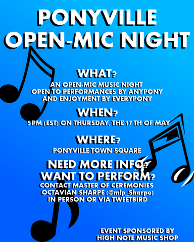 File:Ponyville Open-Mic Night Poster1.png