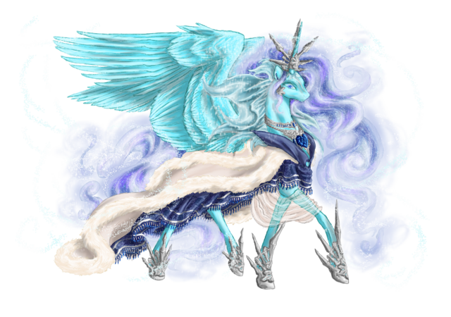 File:Winter alicorn queen of ice and snow by cobaltstratos-d564j2b.png