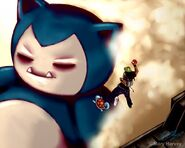 Attack on Snorlax