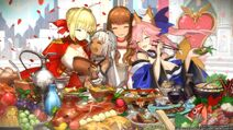Everyone eating fate extella