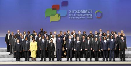 Sommet francophonie Quebec 2008