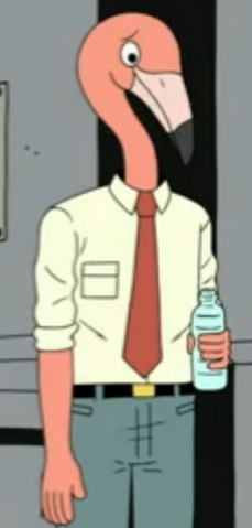 File:Flamingo man with water bottle.png