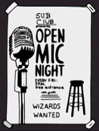 Sub Club Open Mic Night poster