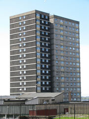 Condemned flats at Sighthill