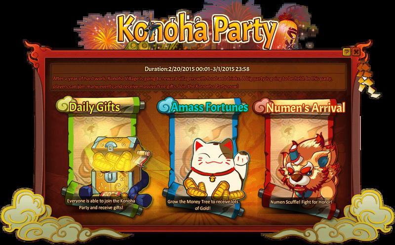 Konoha Party Grid
