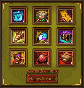 Happy Scratch Fortunate Card