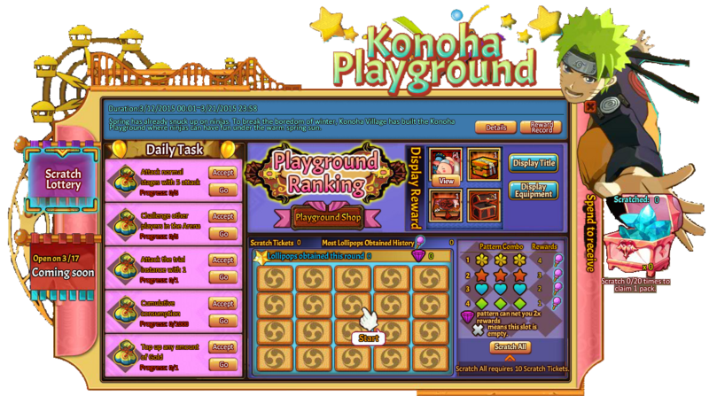 Konoha Playground Scratch Lottery Grid