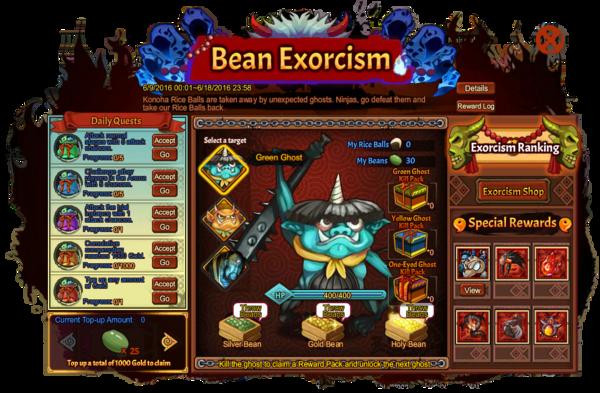 Bean Exorcism Grid